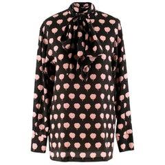 Lanvin Peony-Print Silk Shirt US 6