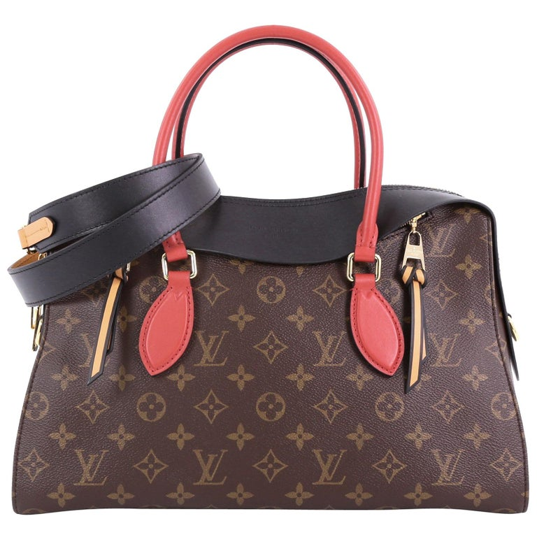 Louis Vuitton Tuileries Handbag Monogram Canvas With Leather At 1stdibs