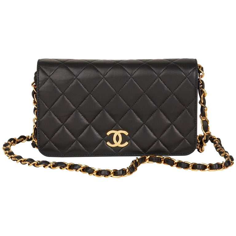 4a467f8880c9 1997 Chanel Black Quilted Lambskin Vintage Mini Flap Bag For Sale at ...