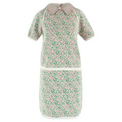 Miu Miu Floral Knitted Top and Skirt Coordinate Set US 6