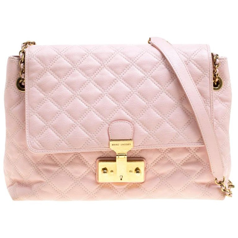 89935a9b41 Marc Jacobs Pink Quilted Leather Baroque Shoulder Bag For Sale at 1stdibs