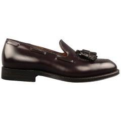 ALDEN Size 6.5 Eggplant Purple Color 8 Leather Tassels Loafers