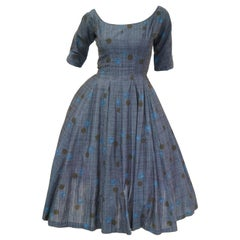 1950s Suzy Perette Blue Polkadot New Look Dress