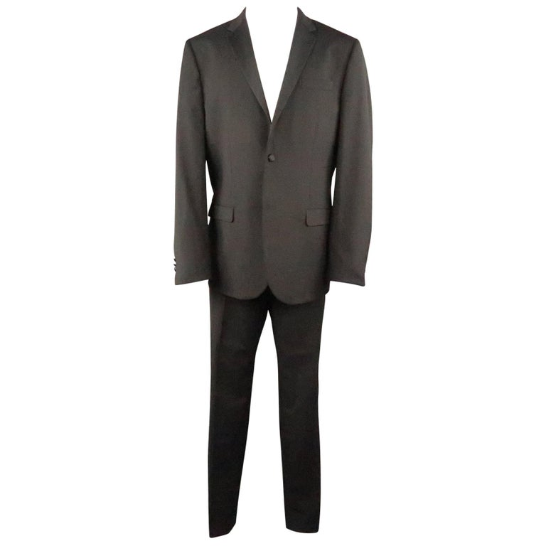 5f7565438c9 MARC JACOBS 42 Regular Black Solid Wool / Mohair 34 34 Notch Lapel Tuxedo  Suit For