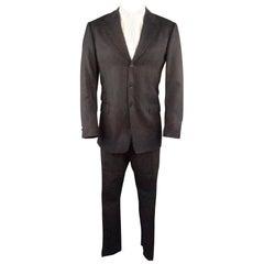 PAUL SMITH 42 Charcoal Plaid Wool 34 32 Notch Lapel Suit