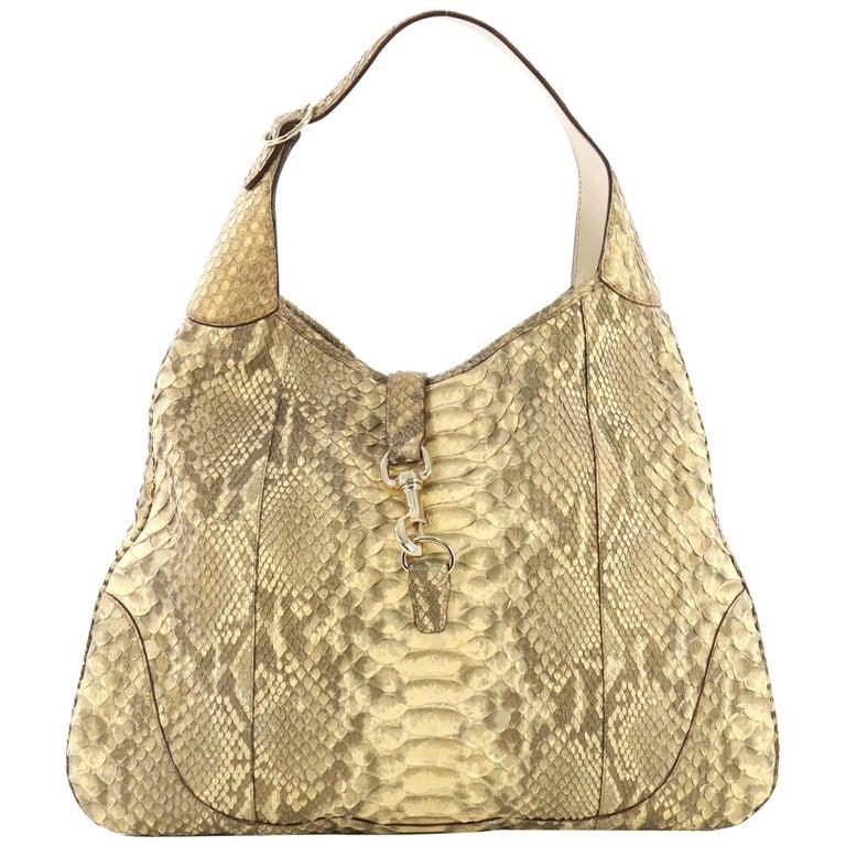 d4e17e95ec1 Gucci Jackie O Handbag Python Large at 1stdibs