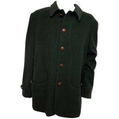 Tessilnova Mens 56 Textured Hunter Green Wool Jacket