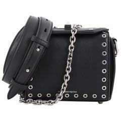Alexander McQueen Box Shoulder Bag Grommet Embellished Leather 16