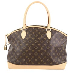Louis Vuitton Lockit Handbag Monogram Canvas Horizontal