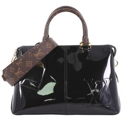 Louis Vuitton, Miroir Handtasche, Vernis mit Monogram, Tuch