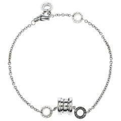 Bvlgari B.zero1 18k White Gold Soft Bracelet