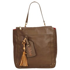 Chloe Brown Leather Eden Tote