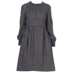 1960S Grey Chester Weinberg Wool Dress Lined In Silk