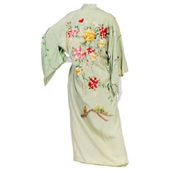 1940s Rayon Kimono With Japanese