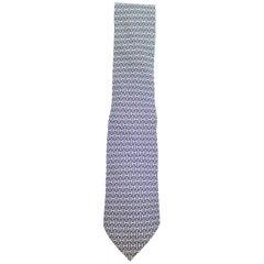 Hermès Blue Interlocking H Neck Tie 10hera620