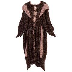 1970s Hand Knit Boho Maxi Coat