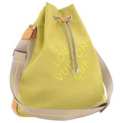 Louis Vuitton Bucket Lv Cup 2003 Lime Damier Geant Noe 225870 Green Canvas Hobo