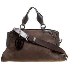 Marcello de Cartier Tasche aus braunem Wildleder und Nubukleder