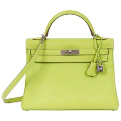 Hermès Limited Edition Bi-colour 32cm Candy Kelly Bag