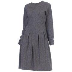 1970s Geoffrey Beene Wool Jersey Dress with Silk Lining