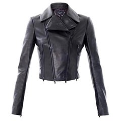 Azzedine Alaïa Cropped Leather Jacket