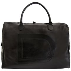 Delvaux Taxi Black Leather XL Travel Bag