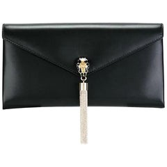 Bvlgari Black Leather Serpenti Clutch