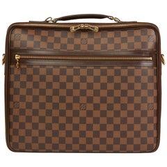 2011 Louis Vuitton Brown Damier Ebene Coated Canvas Sabana Computer Case