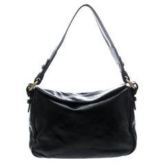 Bally Black Leather Shoulder Bag
