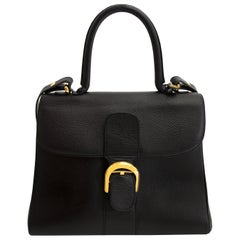 Delvaux Black Brillant MM + Strap