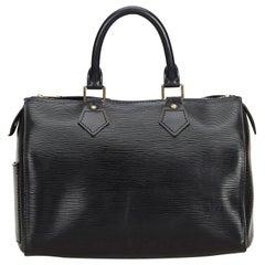 Louis Vuitton Black Epi Speedy 25