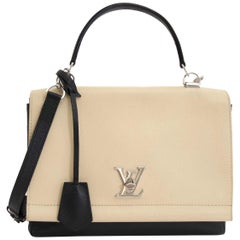 Louis Vuitton Bicolor Lockme Noir Vanille Shoulder Bag