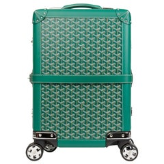 2010 Goyard Green Chevron Coated Canvas Bourget PM