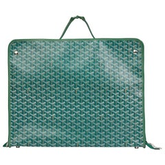 2010 Goyard Green Chevron Coated Canvas Fold-Away Caravelle 60