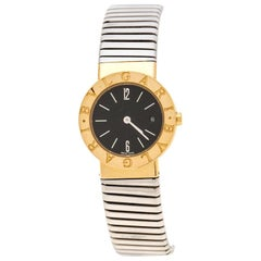 Bvlgari 18K Yellow Gold Tubogas BB26GSCD Women's Wristwatch 26 MM