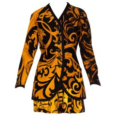 Early 90s Gianni Versace Baroque Silk Shirt & Wool Jacket