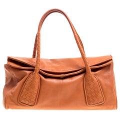 Bottega Veneta Copper Leather Satchel