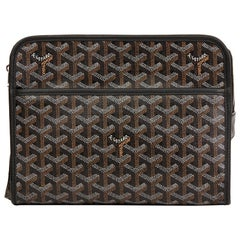 2010 Goyard Black Chevron Coated Canvas Jouvence Toiletry Pouch