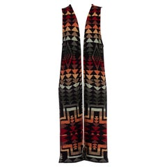 1990s Navajo Blanket Knit Maxi Sweater Vest