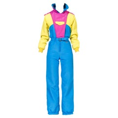 1980-1990s Neon Nylon Puffer Ski Jumpsuit