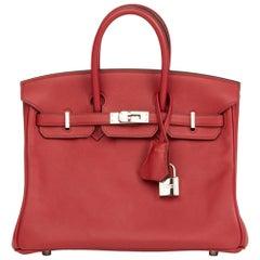 2015 Hermès Rouge Grenat Swift Leather Birkin 25cm
