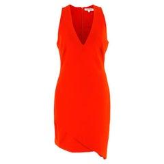 Elizabeth and James Red Asymmetric Sheath Midi Dress US 4