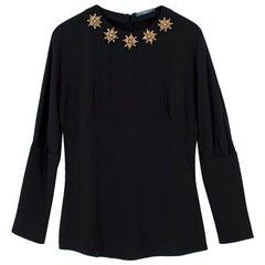 Alexander McQueen Embellished Silk Blouse US 8