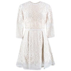 Elie Saab Silk-Blend Lace A-Line Dress US 6