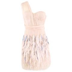 Matthew Williamson Silk & Feather Tulle Dress US 6