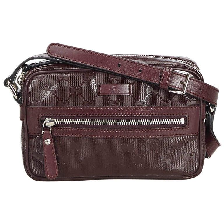 144c36146e5d Gucci Brown GG Imprime Crossbody Bag at 1stdibs