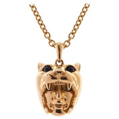 Simon Harrison Dionysus Leopard Gold Pendant