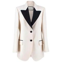 Gucci Silk Cream Blazer US 8