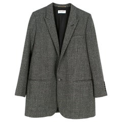 Saint Laurent Wool Longline Blazer US 10