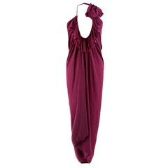 Lanvin purple draped halterneck dress  US 4
